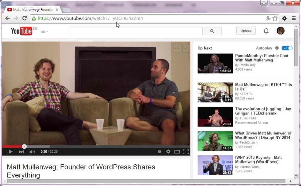 YouTube i WordPress