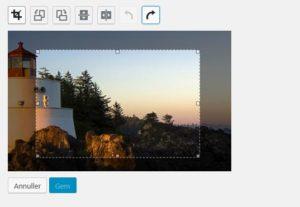 Beskær billede i WordPress