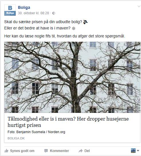 Boliga Facebook opslag